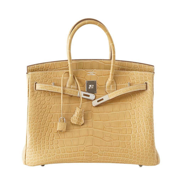 Hermes Birkin 35 Alligator Mais used front