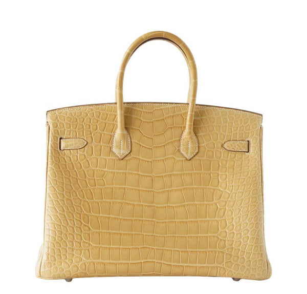 Hermes Birkin 35 Alligator Mais used back
