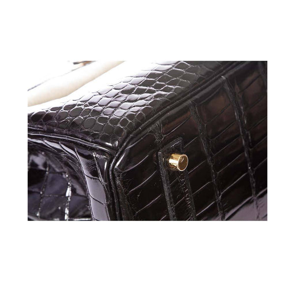 hermes birkin 35 crocodile black new corner