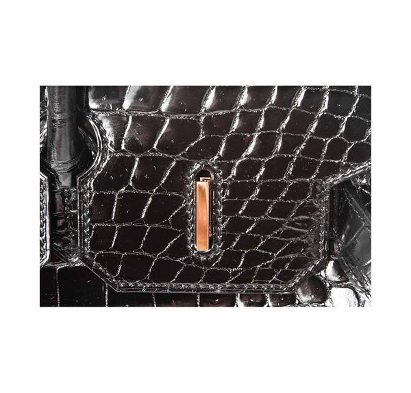 hermes birkin 35 crocodile black new detail