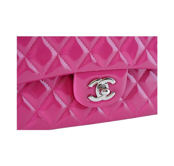 chanel medium flap bag fuschia new detail