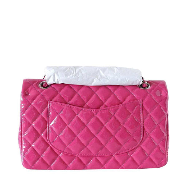 chanel medium flap bag fuschia new back