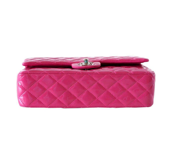 chanel medium flap bag fuschia new bottom