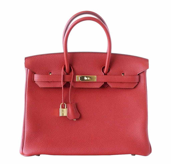Hermes Birkin 35 Vermillion Togo Bag