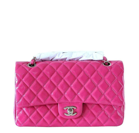 fe2ec8d0a978 Chanel Medium Flap Bag Fuschia Patent