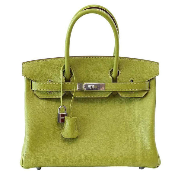 Hermes Birkin 30 Green Chevre Bag