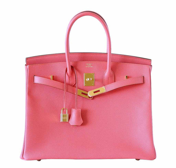 Hermes Birkin 35 Flamingo new front open