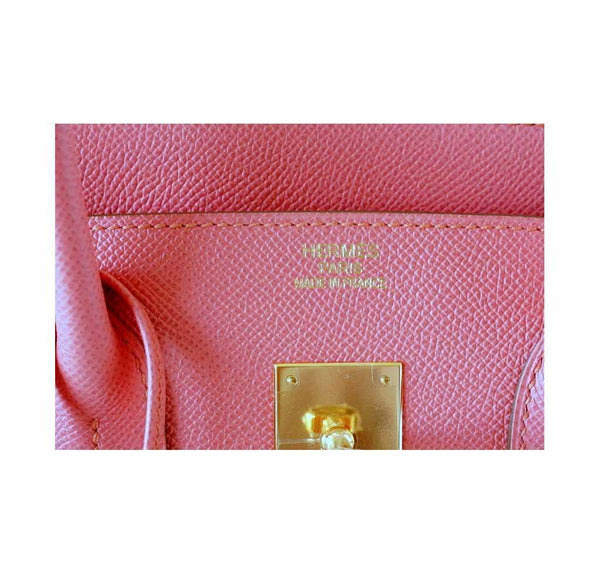 Hermes Birkin 35 Flamingo new embossing