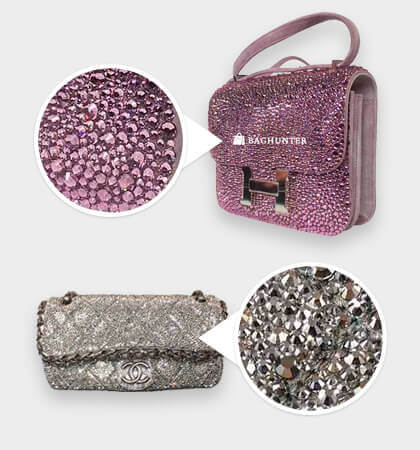 Baghunter - custom swarovski crystals on bag