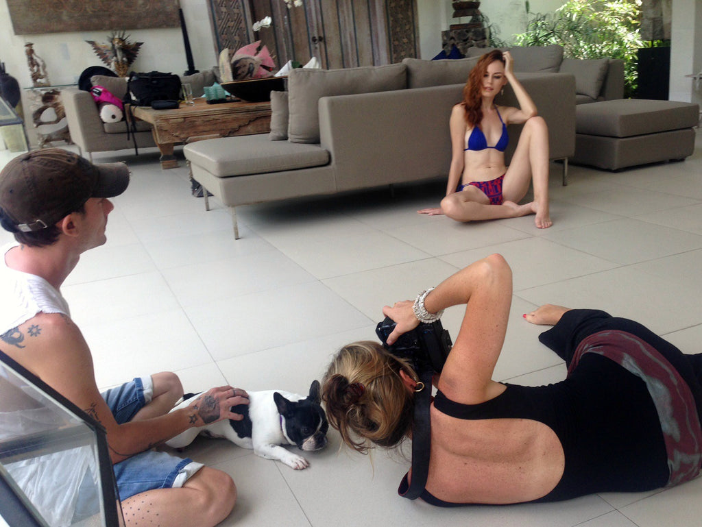 Bali villa swimwear photoshoot
