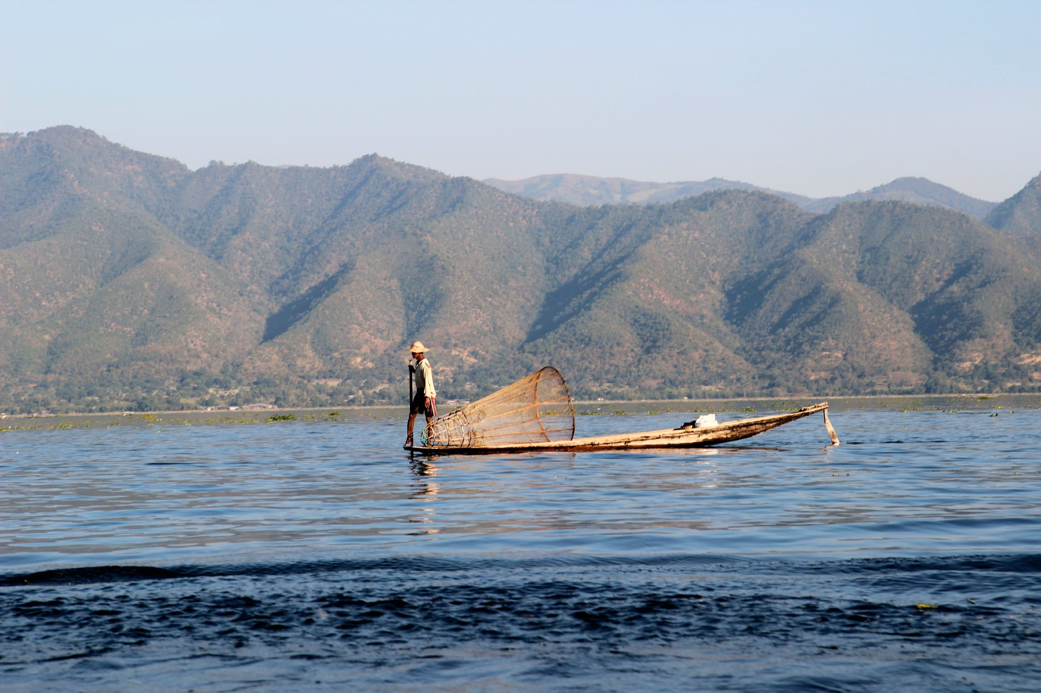 Inle Lake Fisherman Burma Myanmar