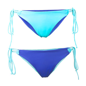 Bora Bora String Bottom - Reversible Aquamarine / Cobalt - August Society  - 2