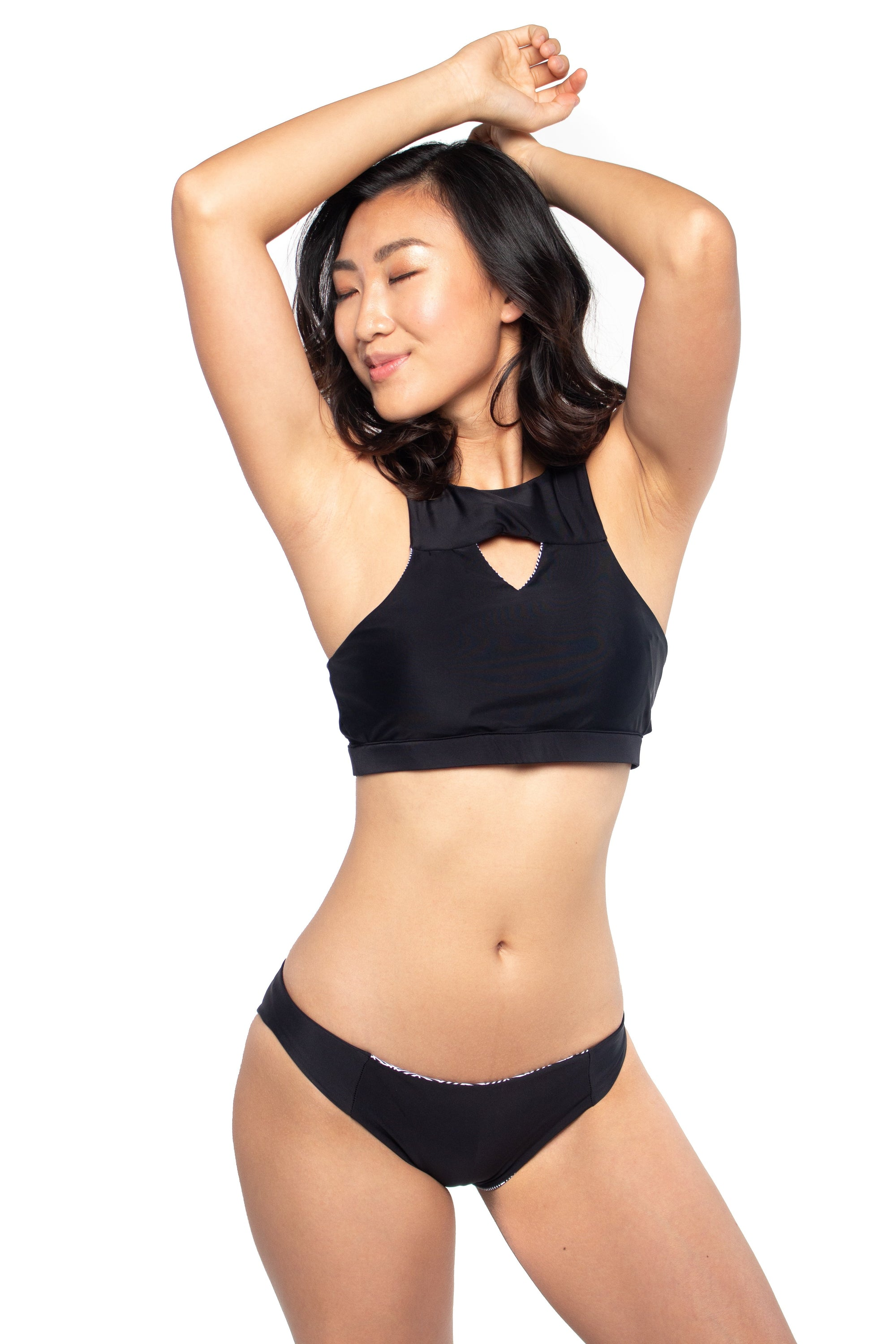 Lombok Low Rise Hipster Bottom - Reversible Black/Tile