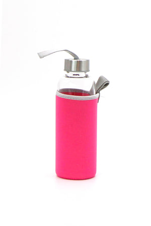 Glass Water Bottle (multiple colours)