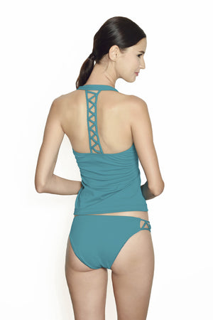 Cancun Racerback Tankini - Tosca - August Society  - 2