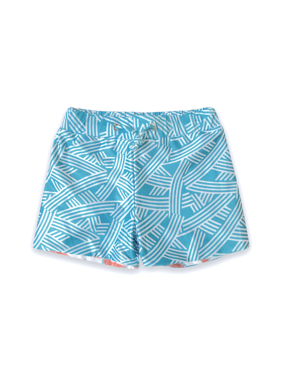 Echo Kid's Swim Shorts - Reversible
