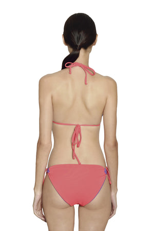 Tahiti String Bottom -  Reversible Lilac / Coral - August Society  - 5