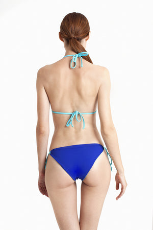 Bora Bora String Bottom - Reversible Aquamarine / Cobalt - August Society  - 6