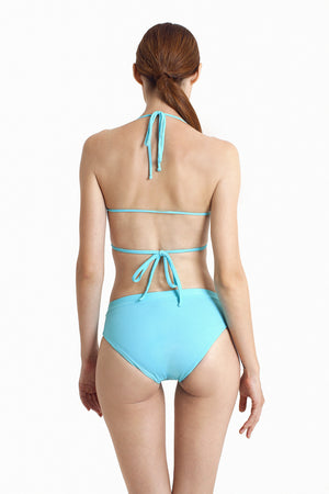 Bondi Wrap Top - Aquamarine - August Society  - 4