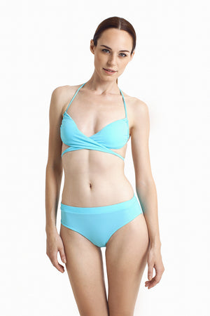 Bondi Wrap Top - Aquamarine - August Society  - 3