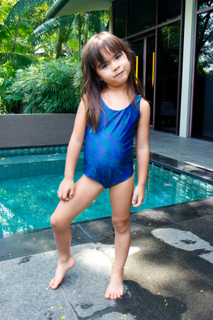 Gili Girls' Swimsuit - Reversible