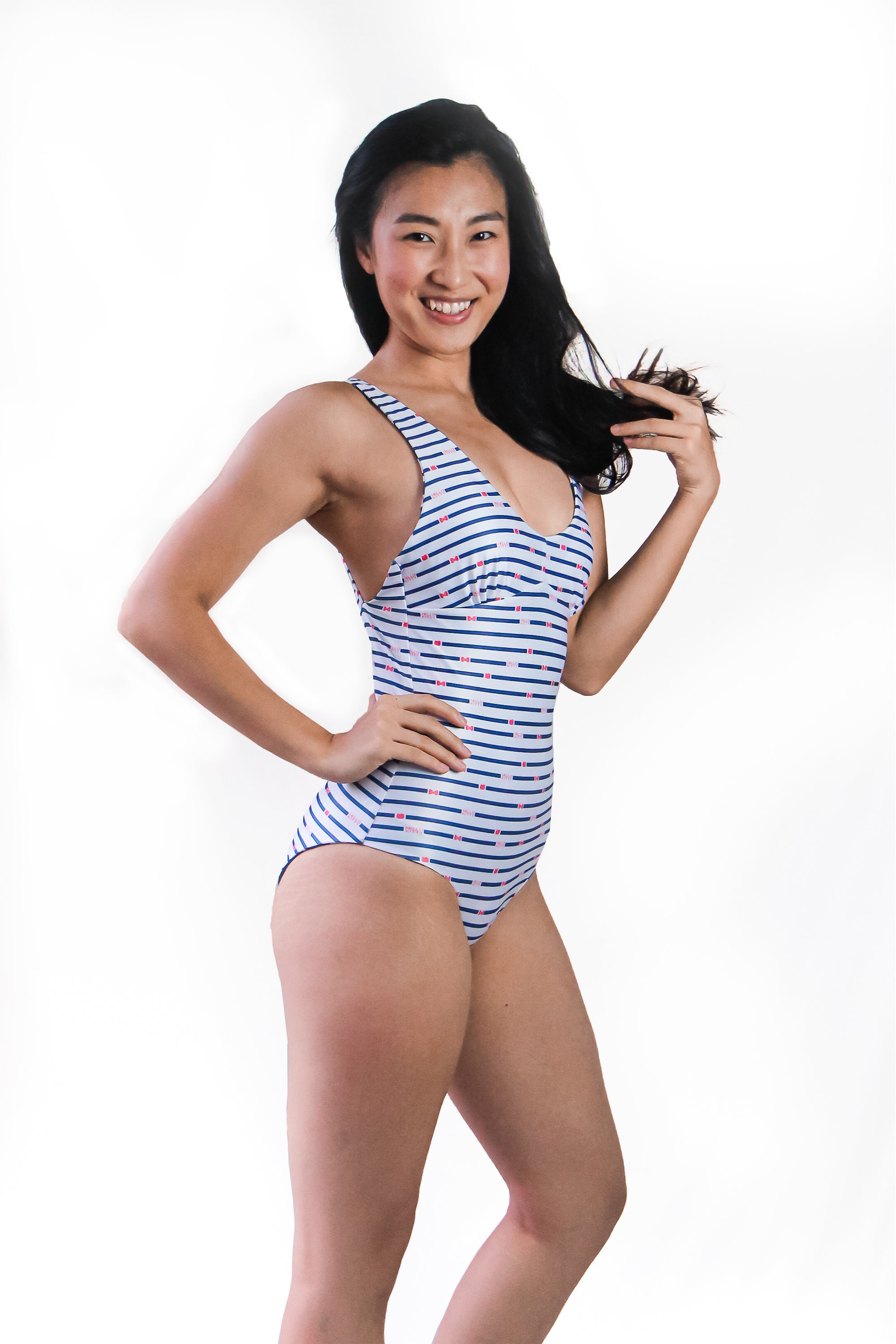 Hello Kitty Women's One Piece Swimsuit - Reversible