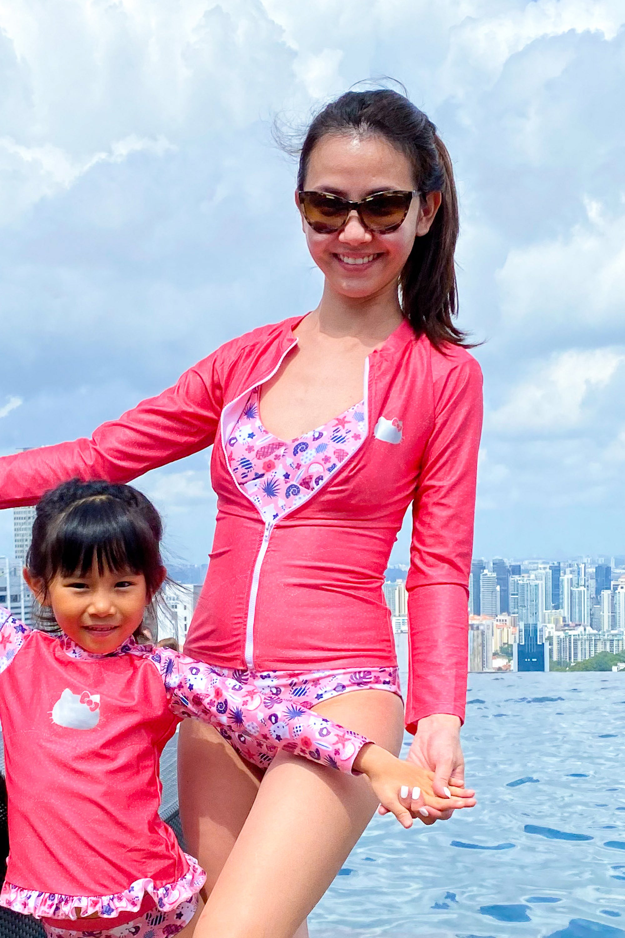 Hello Kitty Women's Zip Rash Guard