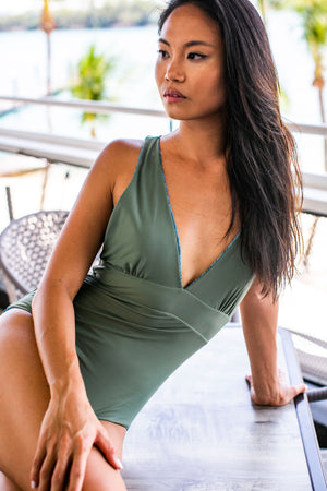 Valencia V-Neck One Piece - Reversible