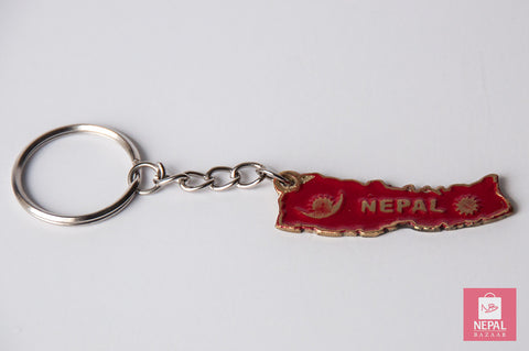 Nepal Map Keyring