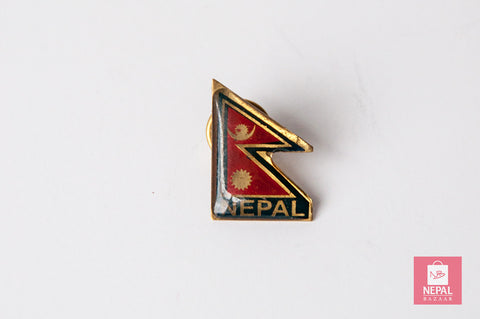 Nepali Flag Coat Pin