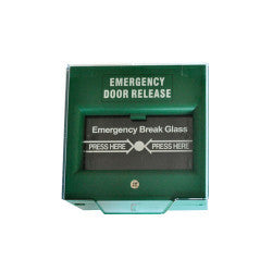 Green Emergency Door Release Call Point (Break Glass)