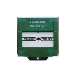 Green Emergency Door Release Call Point (Resetable)