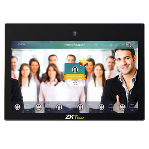 ZKTeco FaceKiosk H21:  21.5-Inch Touch Screen Wall-Mounted Visual Light Facial Recognition Kiosk