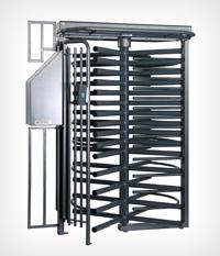 TRIBUNE Single Full Height Ultra Secure Industrial Turnstile