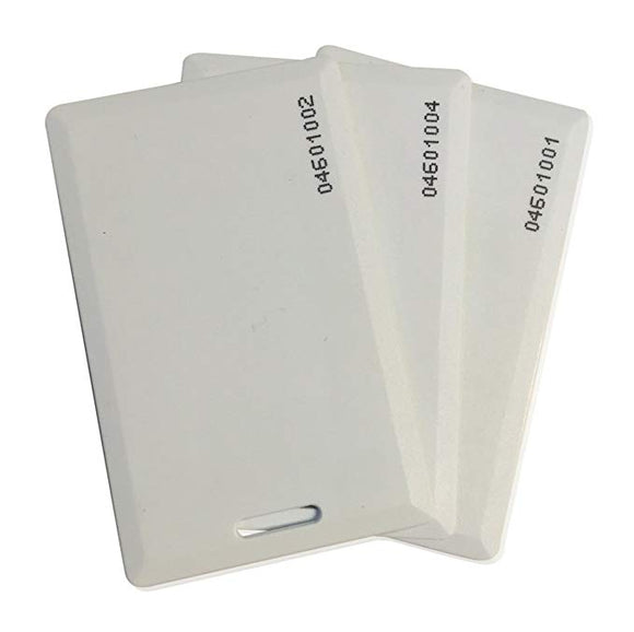 Prox Access Control Card White 125 kHz RFID 1.1mm - Pack of 10