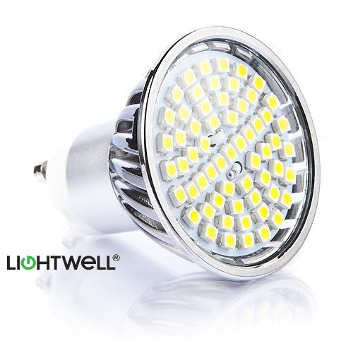 4.5 Watt GU10 LED Bulb. 50W Replacement.