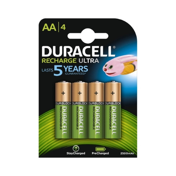 Duracell AA 2500mAh Rechargeable Batteries (Pack of 4)