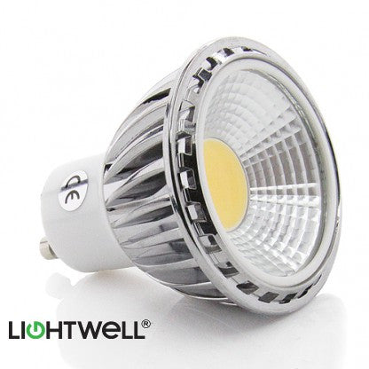 5 Watt GU10 COB LED Spotlight. 50W Replacement.