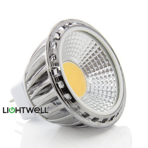 5 Watt MR16 COB LED Spotlight. 50W Replacement.