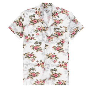 The Good People -  Johnny Print Shirt - Off White