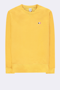 The Good People -  SWEATER WITH CLOUD LOGO PATCH - Yellow
