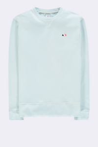 The Good People -  SWEATER WITH CLOUD LOGO PATCH - Light Blue