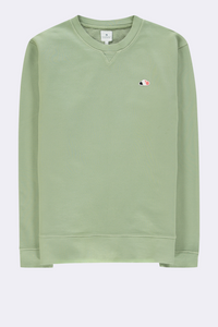 The Good People -  SWEATER WITH CLOUD LOGO PATCH - Army Green