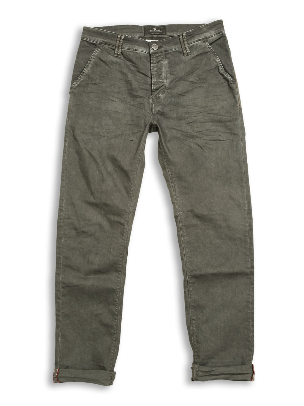 Paulo Pavia Super Oil Trousers - Olive Night