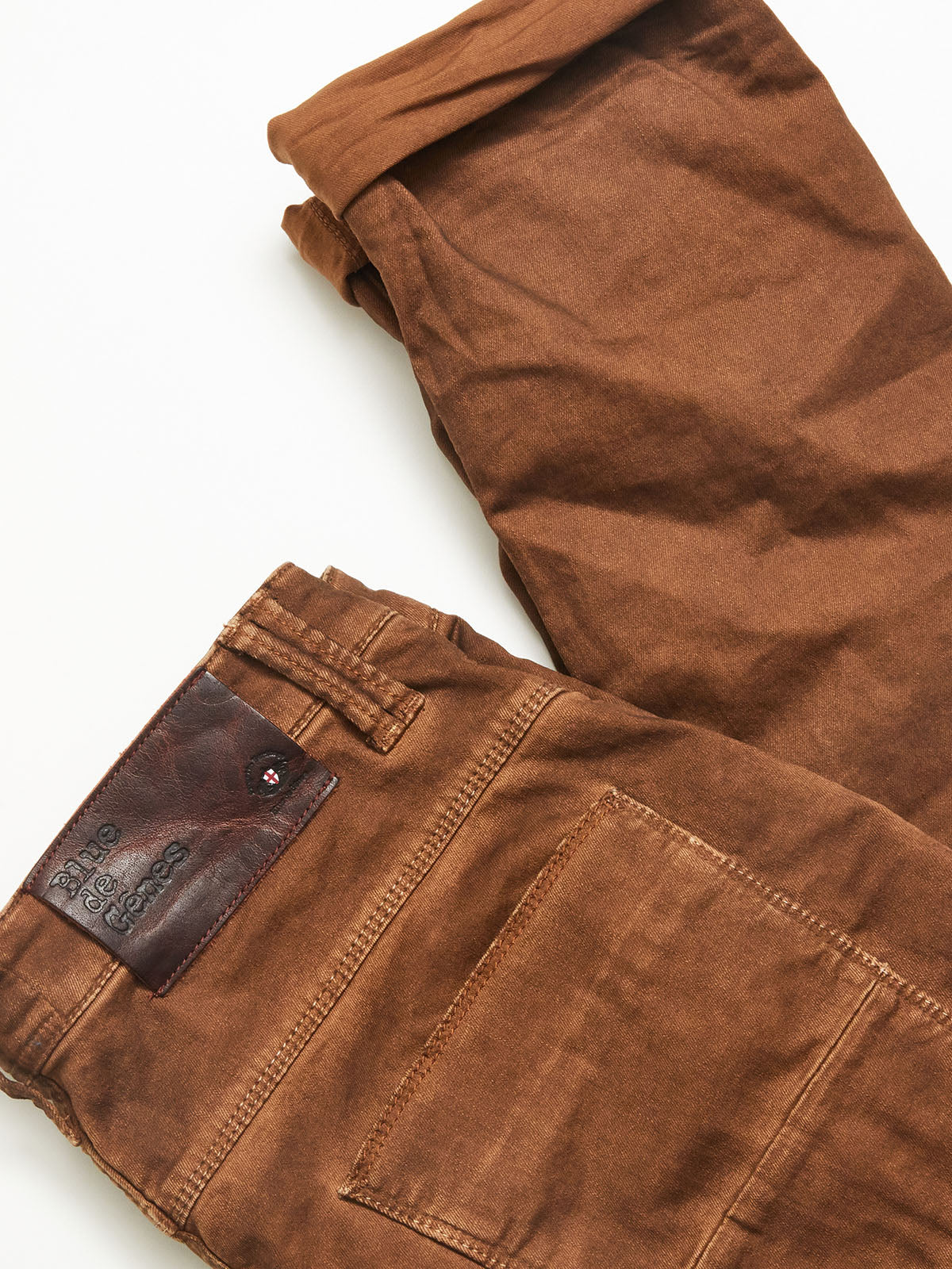 Paulo Pavia Super Oil Trousers - Brown Spice
