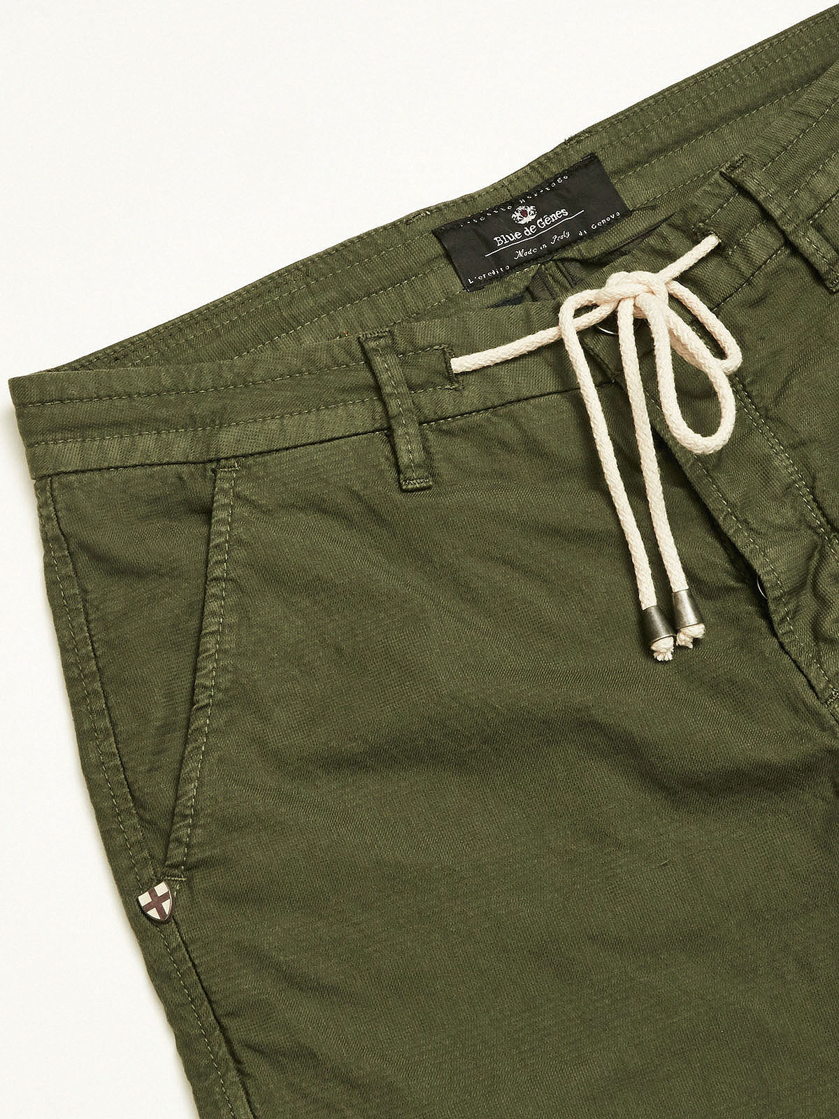 LIA STRING TROUSERS -  KHAKI