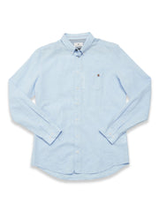 Bacco Cotton Linen Shirt Lt. Blue