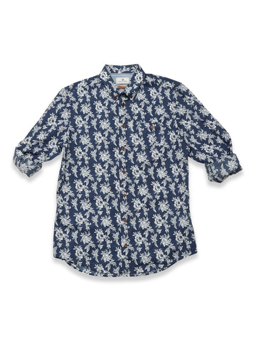 Bacco Mondo Shirt Blue Flower