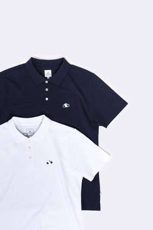 The Good People -  Essential - Polo Shirt White