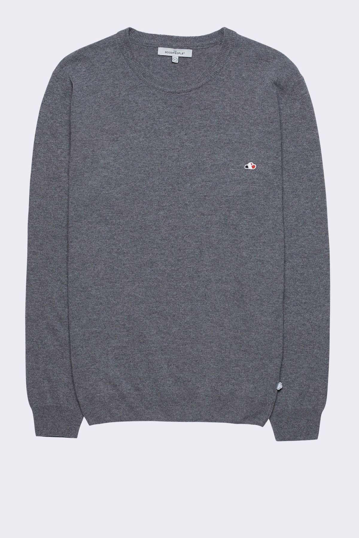 The Good People -  SWEATER KNOX - MID GREY MELANGE